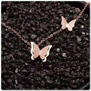 .925S over Stainless Steel Butterfly 🦋 Necklace